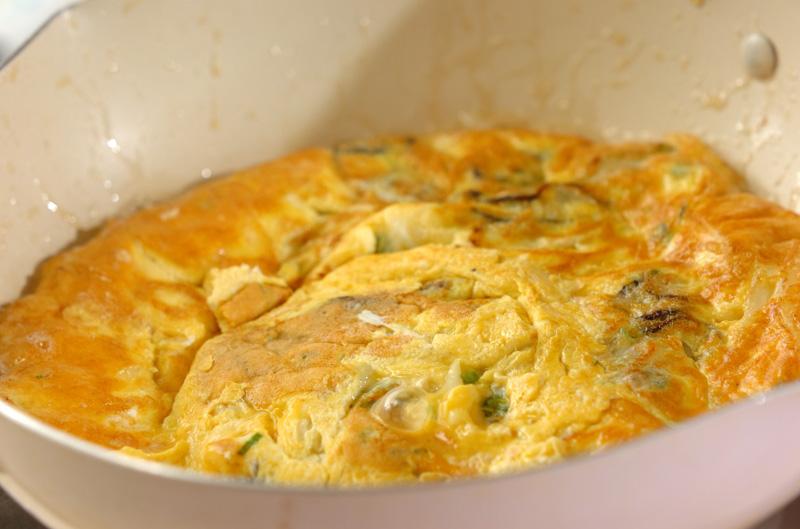 オイスター卵焼きの作り方の手順6