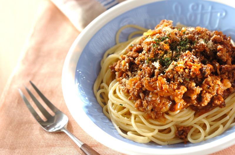 ミートソーススパゲティーの作り方の手順