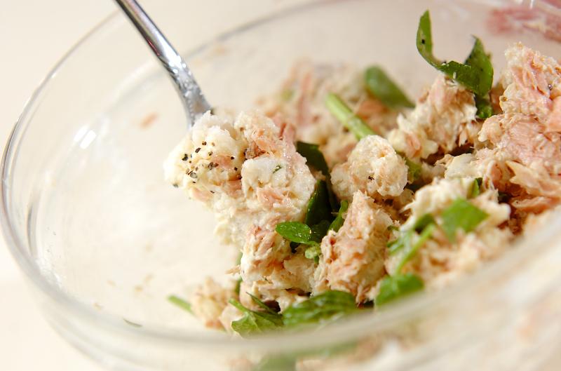 里芋とツナのサラダの作り方の手順3