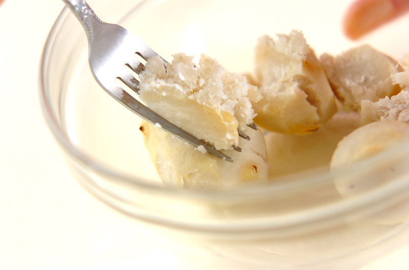 里芋とツナのサラダの作り方の手順1