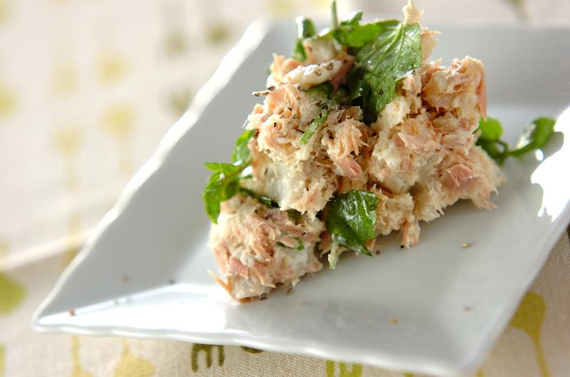 里芋とツナのサラダの作り方の手順