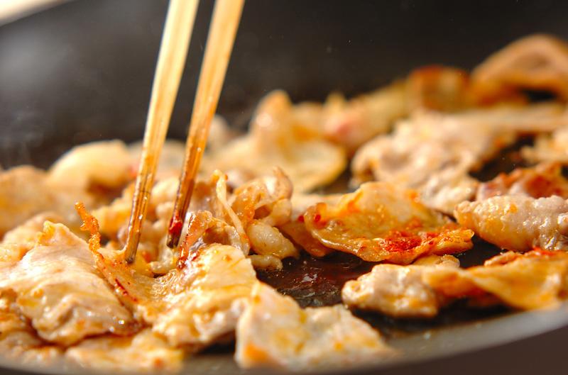 タケノコと豚の甘辛炒めの作り方の手順5