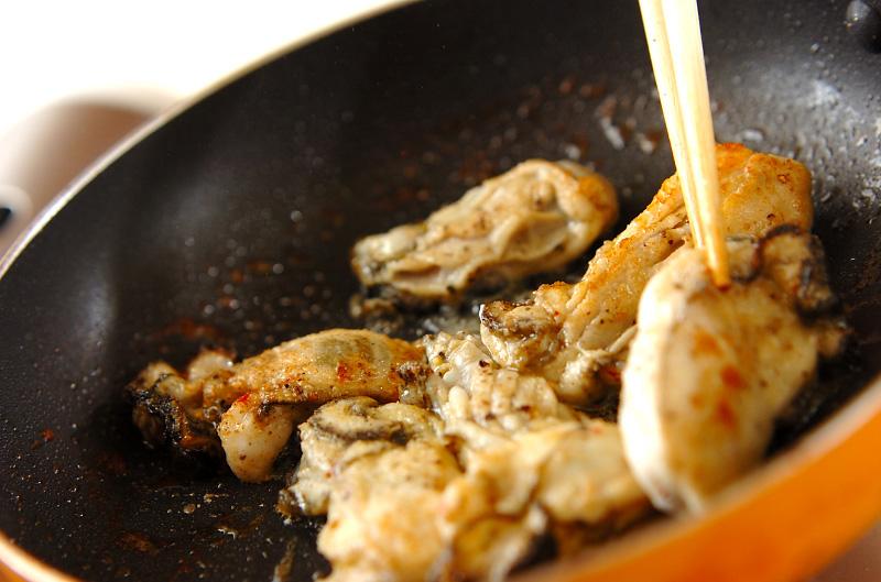 カキの大和芋焼きの作り方の手順2