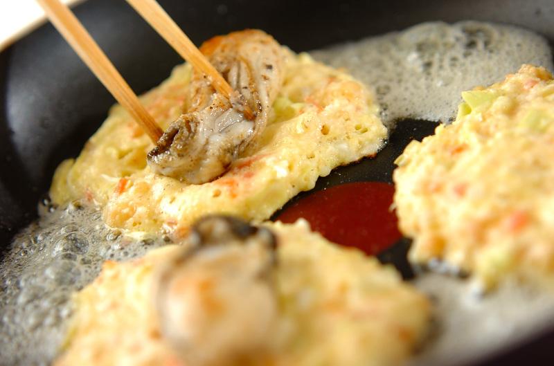 カキの大和芋焼きの作り方の手順3