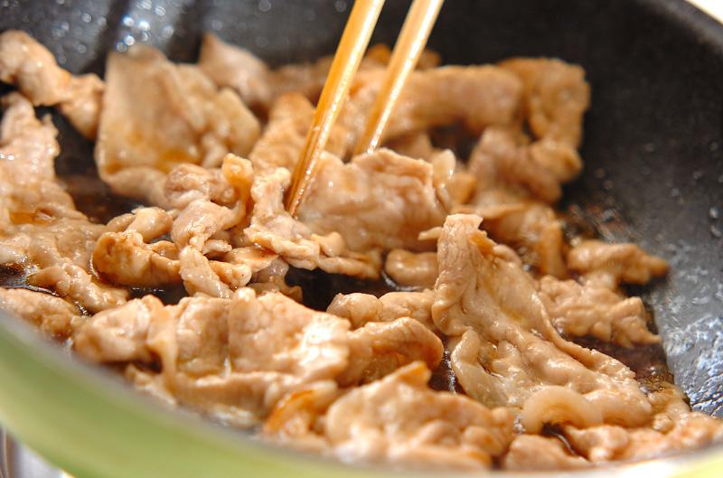 薄切り豚肉のショウガ焼きの作り方の手順6