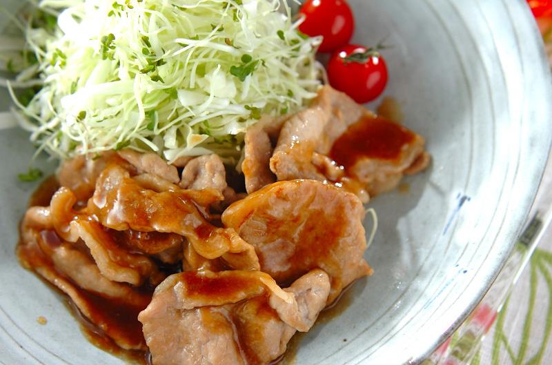 薄切り豚肉のショウガ焼きの作り方の手順