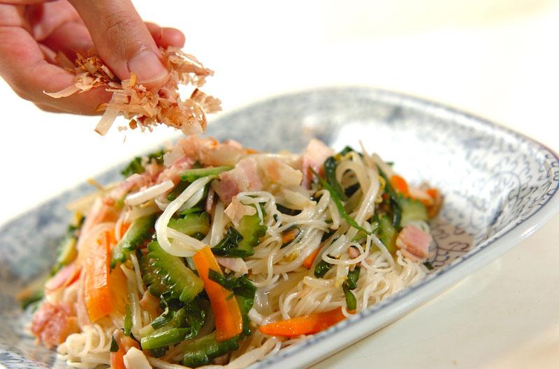 ゴーヤ入り素麺チャンプルーの作り方の手順9