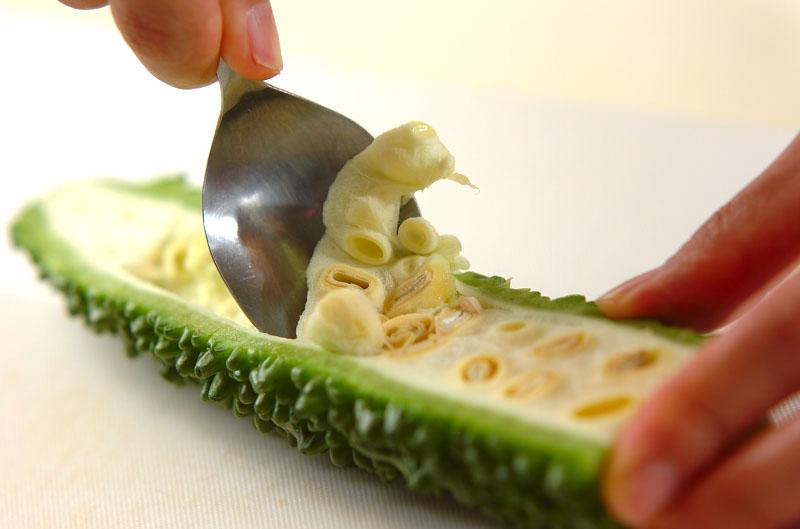 ゴーヤ入り素麺チャンプルーの作り方の手順3