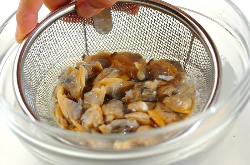 アサリ丼の作り方の手順1