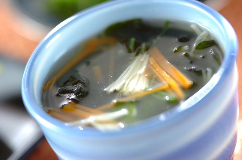 ワカメのスープの作り方の手順