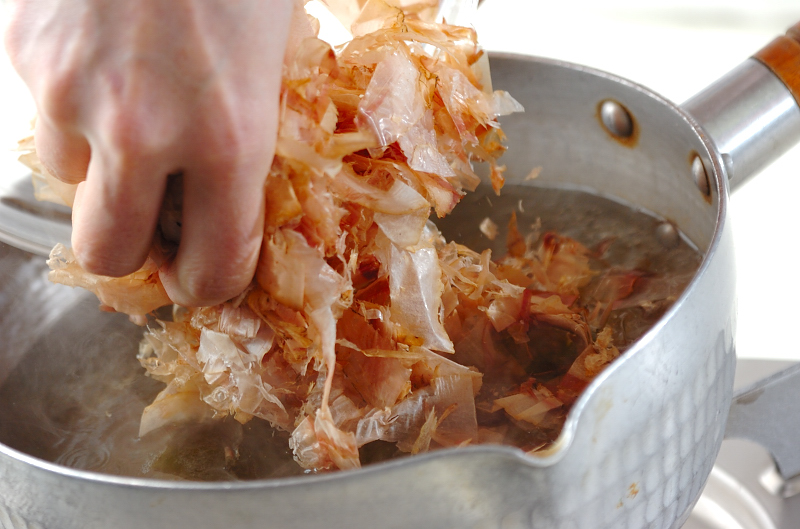 基本のだし汁の作り方の手順2