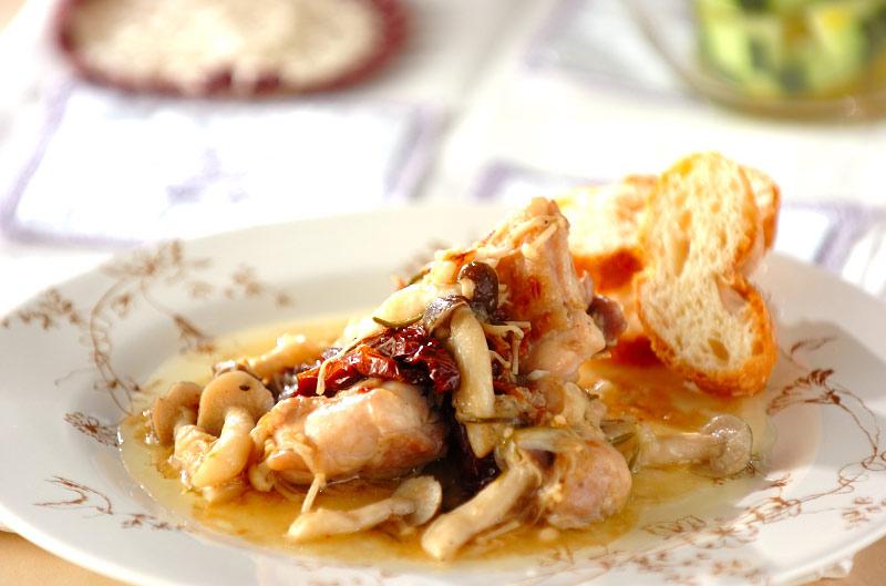 鶏肉のハーブオイル炒め煮の作り方の手順