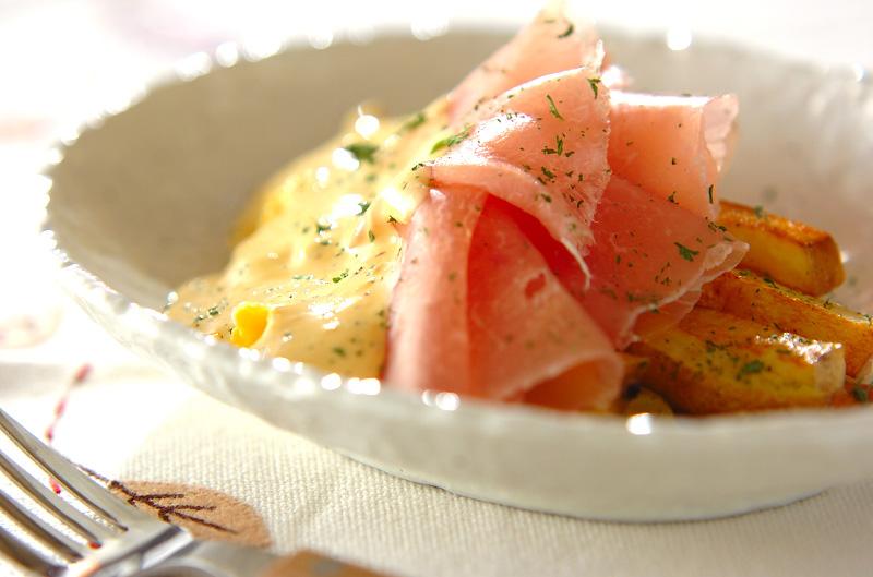 ジャガイモと半熟卵のアリオリソース