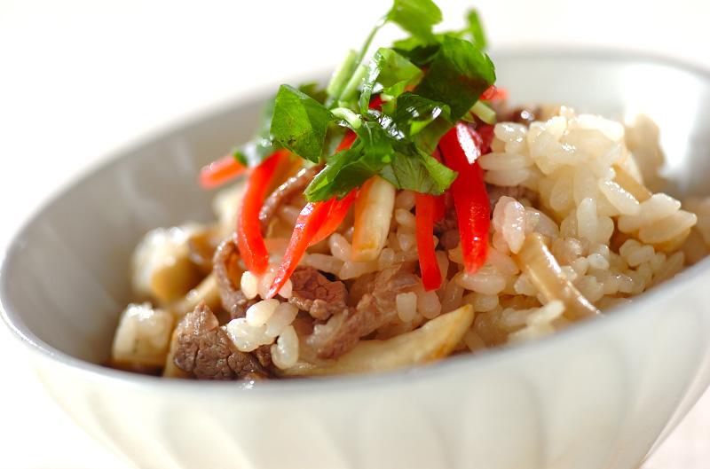 シメジとエリンギの混ぜご飯