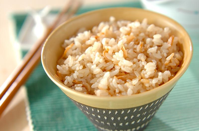 桜エビの炊き込みご飯の作り方の手順