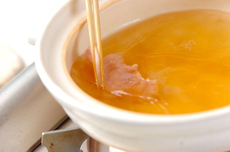 スープ常夜鍋の作り方の手順6