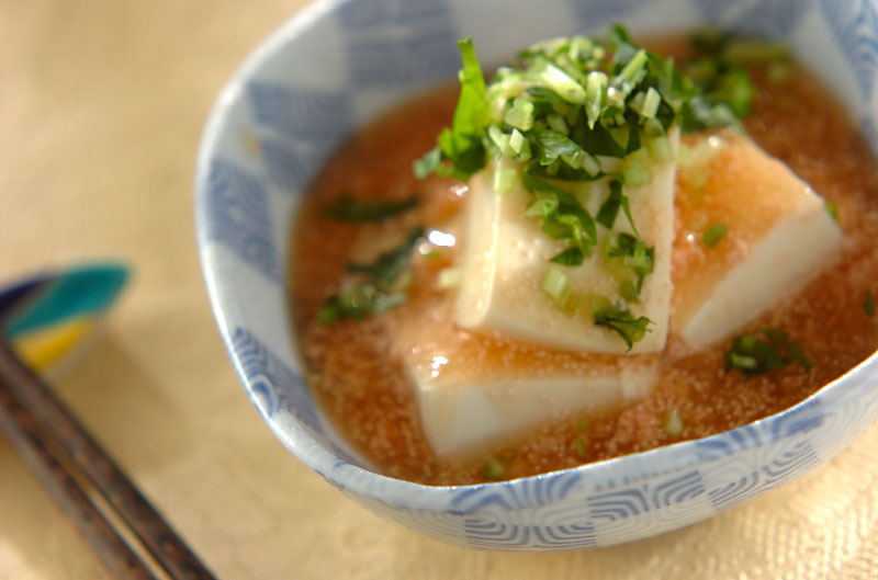 豆腐のタラコあんかけの作り方の手順
