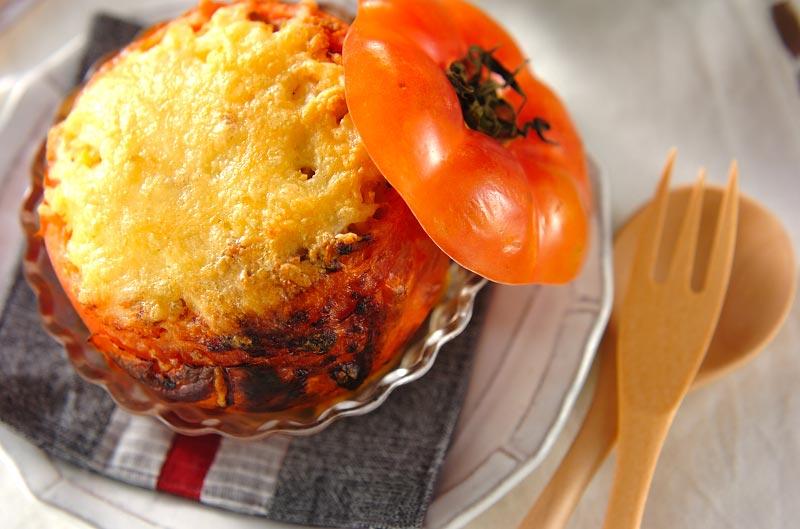 トマトのチャーハン詰め焼き