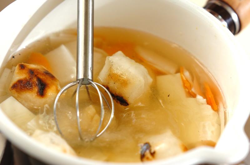 焼き餅のトロトロ白みそ汁の作り方の手順4