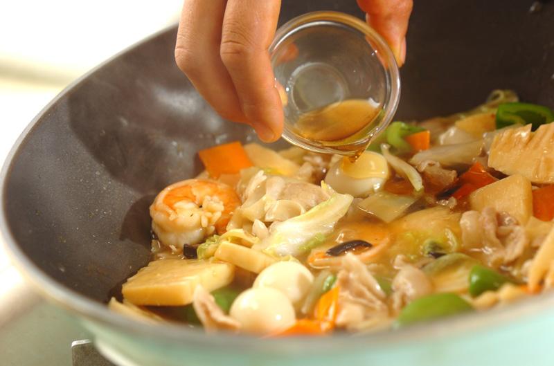 豚肉とエビの中華丼の作り方の手順11