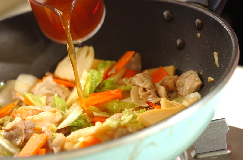 豚肉とエビの中華丼の作り方の手順10
