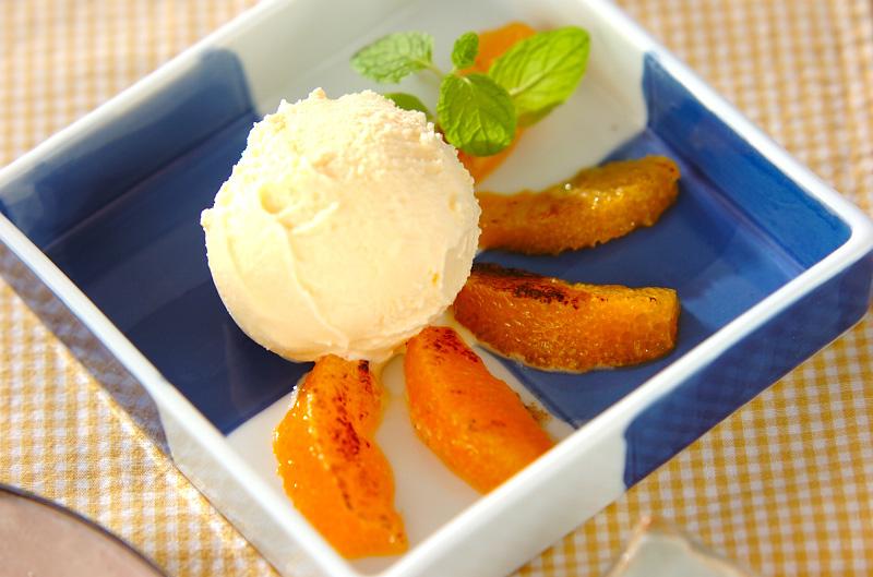 オレンジのグラニュー糖焼き