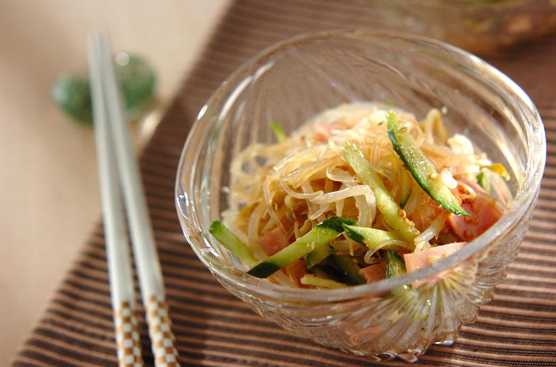 緑豆モヤシと春雨の中華風サラダの作り方の手順