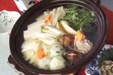 団子入り鶏水炊きの作り方の手順