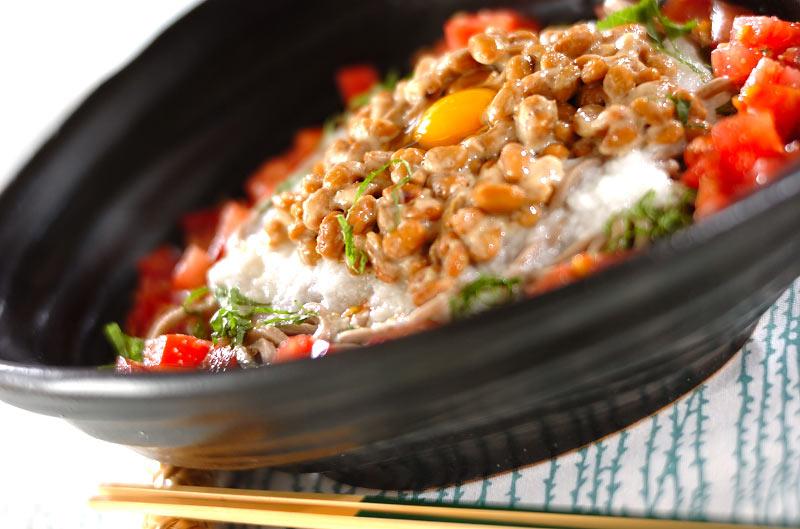 納豆そばサラダの作り方の手順