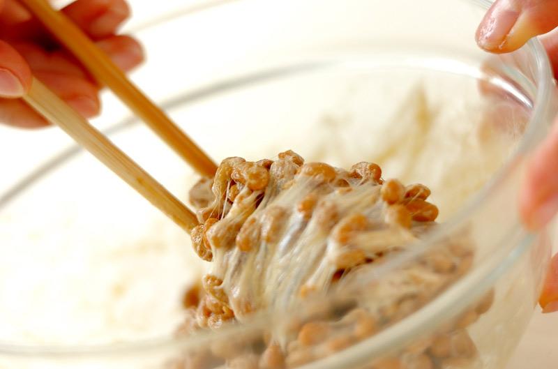 納豆そばサラダの作り方の手順1
