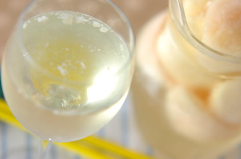 ピーチ入りワインの作り方の手順
