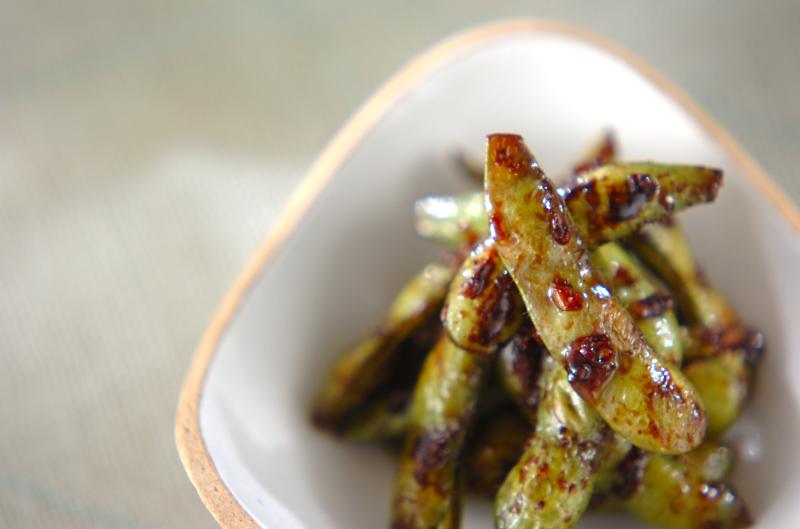 枝豆のガーリック炒め