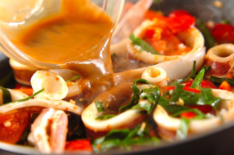 イカのピリ辛ワタ炒めの作り方の手順5