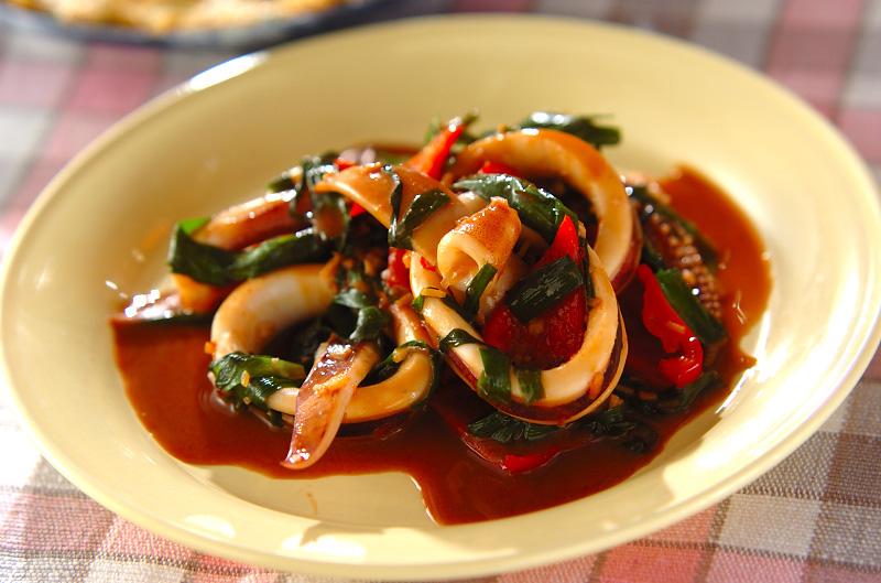 イカのピリ辛ワタ炒めの作り方の手順