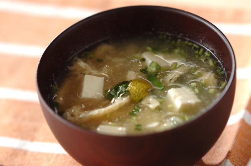 豆腐と油揚げのみぞれ汁の作り方の手順