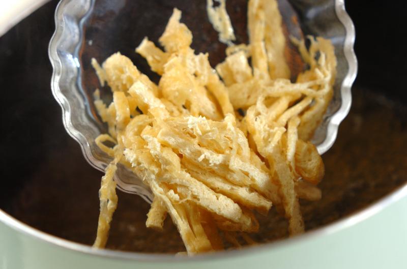 豆腐と油揚げのみぞれ汁の作り方の手順4