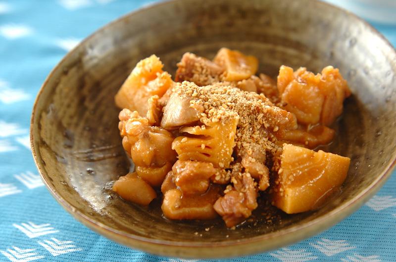 鶏肉とタケノコのみそ煮