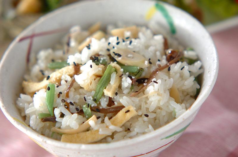 山菜ご飯の作り方の手順