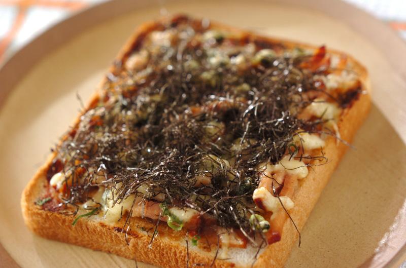 ネギみそチャーシューピザトーストの作り方の手順