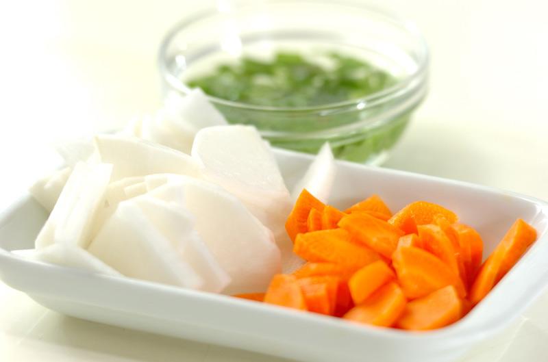 くずし豆腐のさっぱり汁の作り方の手順1