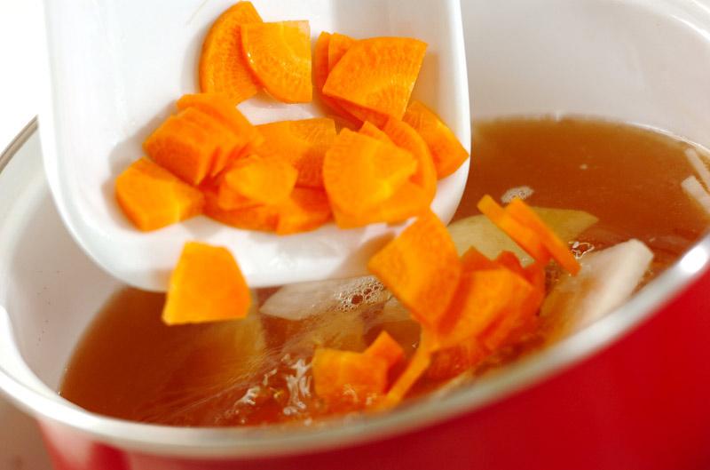 くずし豆腐のさっぱり汁の作り方の手順3