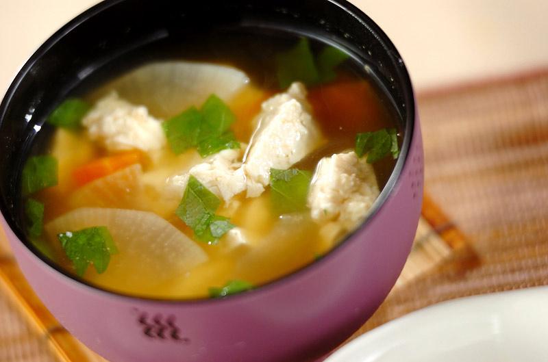 くずし豆腐のさっぱり汁の作り方の手順