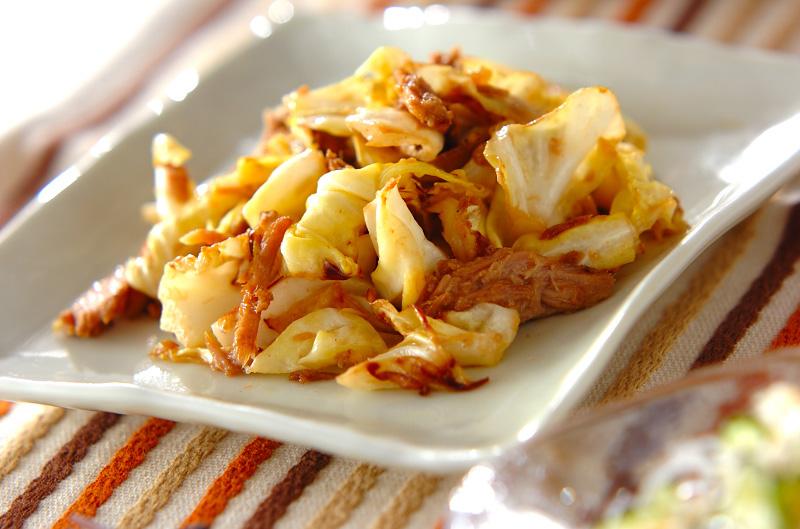 キャベツのツナマヨ炒めの作り方の手順
