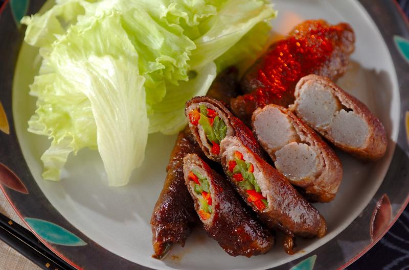 甘辛牛肉のコンニャク巻きの作り方の手順