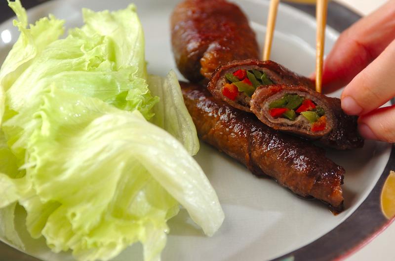 甘辛牛肉のコンニャク巻きの作り方の手順7