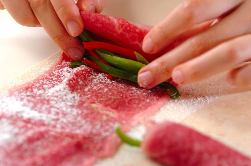 甘辛牛肉のコンニャク巻きの作り方1