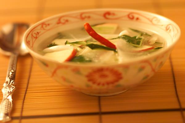 水キムチ風スープ