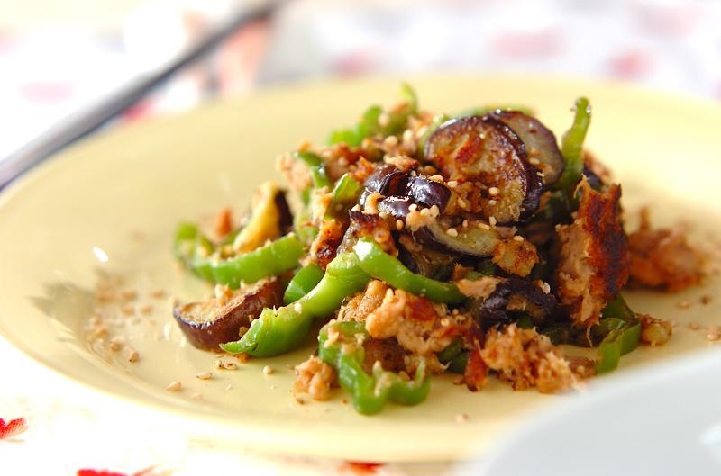 ナスとピーマンのツナみそ炒め【E・レシピ】料理のプロが作る簡単レシピ/2010.07.05公開のレシピです。