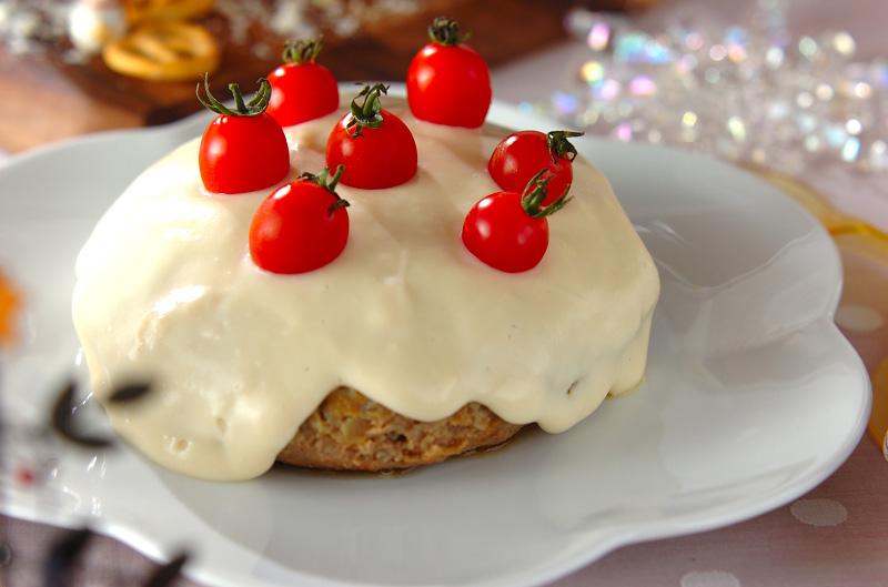 クリスマスジャンボホワイトハンバーグ