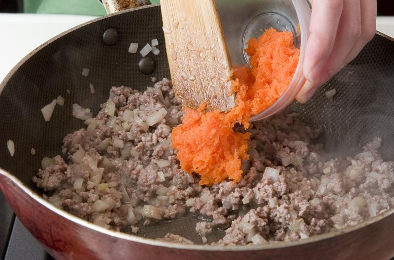 ひき肉春カレーの作り方の手順2